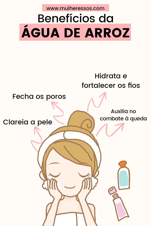 BENEFÍCIOS da água de arroz no cabelo e na pele