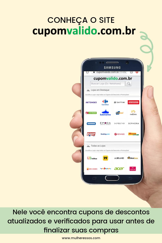 Economize nas suas compras online com cupons de desconto no site Cupom válido